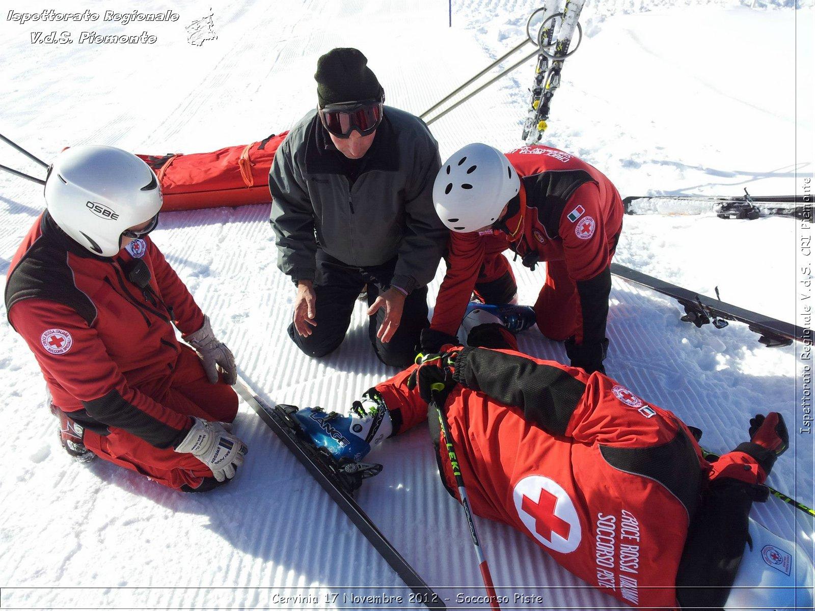 Elicottero Croce Rossa Italiana : Cervinia novembre soccorso piste croce rossa